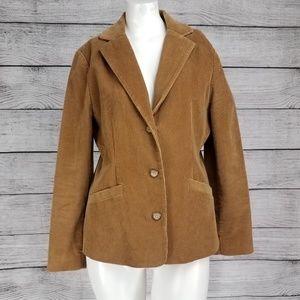 L.L. Bean 6 Corduroy Blazer Suit Jacket Button up